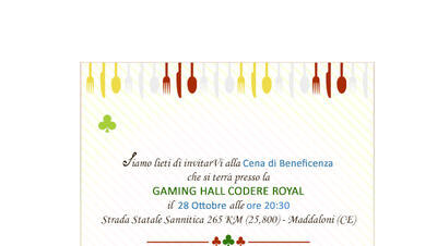 Cena di Beneficenza Codere