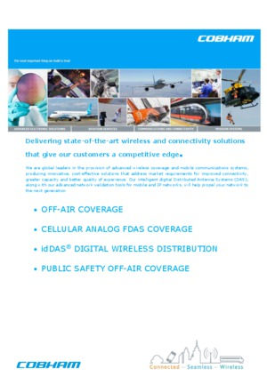 Cobham wireless and connectivity solutions