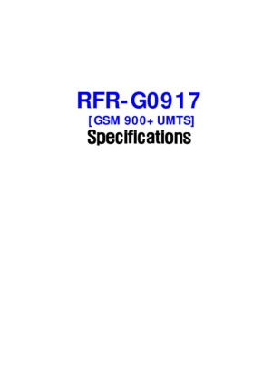 Pico Repeater GSM-UMTS - 900 MHz Data Sheet
