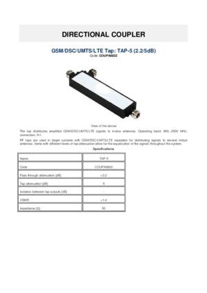 Directional coupler datasheet