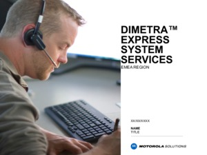 DIMETRA Express Services Overview