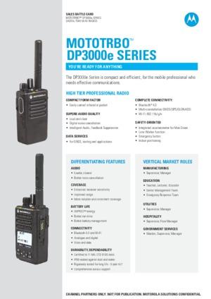DP3000e Battle Card