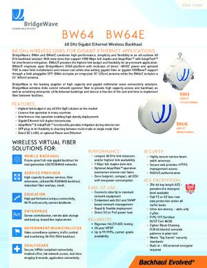 DataSheet BW64 & BW64E