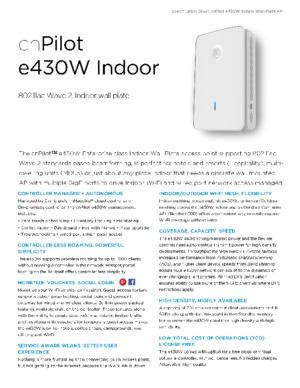 cnPilot e430W Spec Sheet