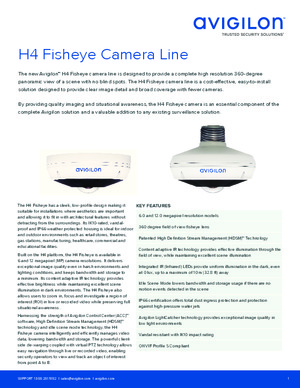 H4 Fisheye Datasheet