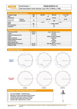 IOAG360V4-A1 Indoor Omni Antenna datasheet