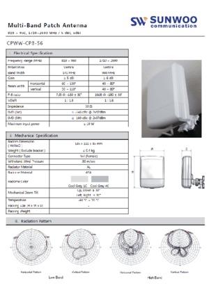 CPWW-CPB-56 Multi-Band Patch Antenna datasheet