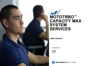 MOTOTRBO Capacity Max services overview