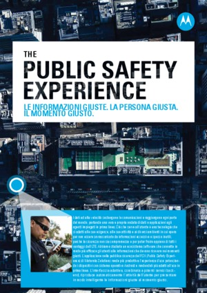 Public Safety Experience Brochure
