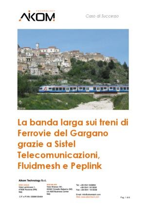 La banda larga sui treni di Ferrovie del Gargano