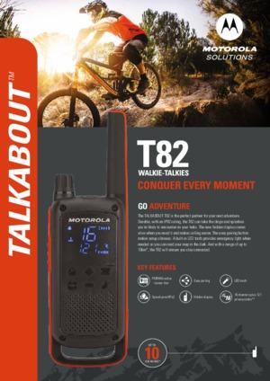 Talkabout T82 datasheet