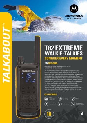 Talkabout T82 EXTREME datasheet
