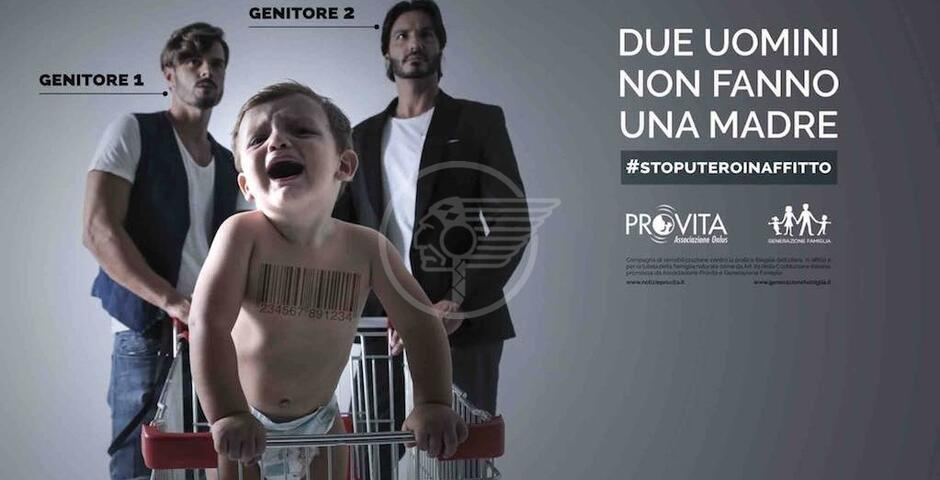 I manifesti anti papà gay. Un'anti campagna nazionale