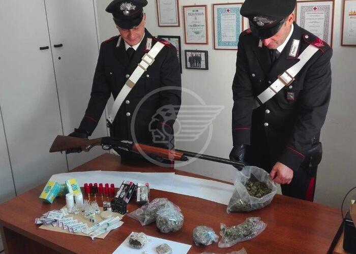 Droga, armi e munizioni: un arresto a Bellariva