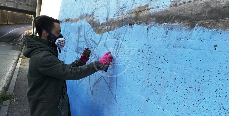 Murales nel sottopasso di via Pantano