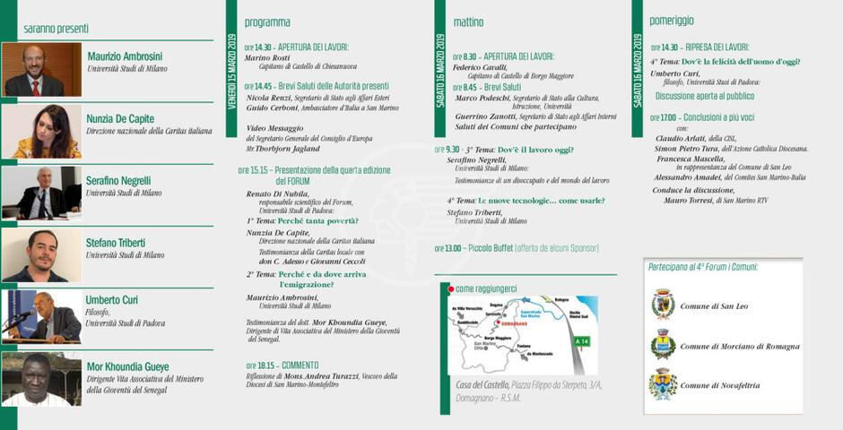 Il 15 e 16 marzo via al 4° Forum del Dialogo