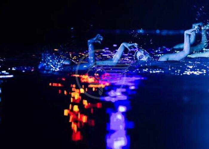 Nuotatrici sincro e drago marino al Festival