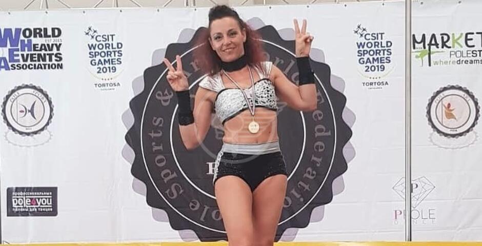 Mirella De Donato oro ai World Sport Games