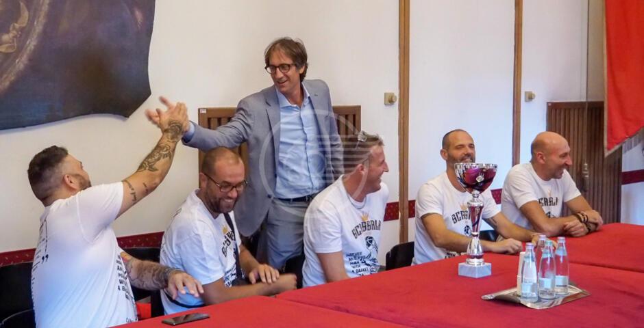 """Scassala"", saluto ai campioni nazionali over 40 basket Uisp"