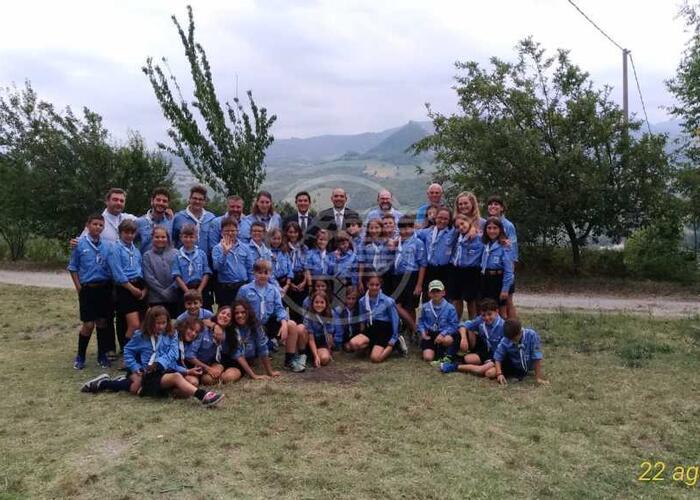Reggenti al campo scout dei lupetti di Borgo Maggiore