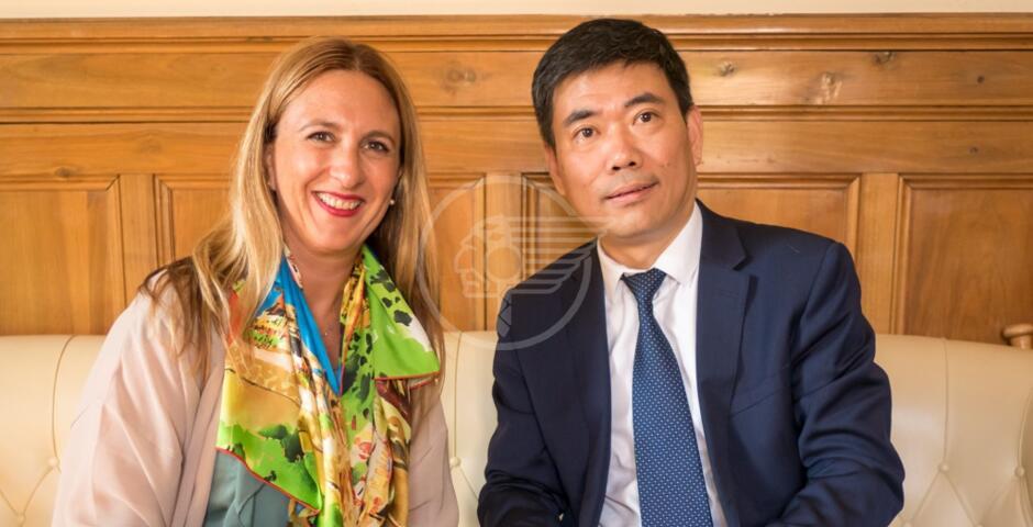 I Consoli di Francia e Cina ricevuti in Comune