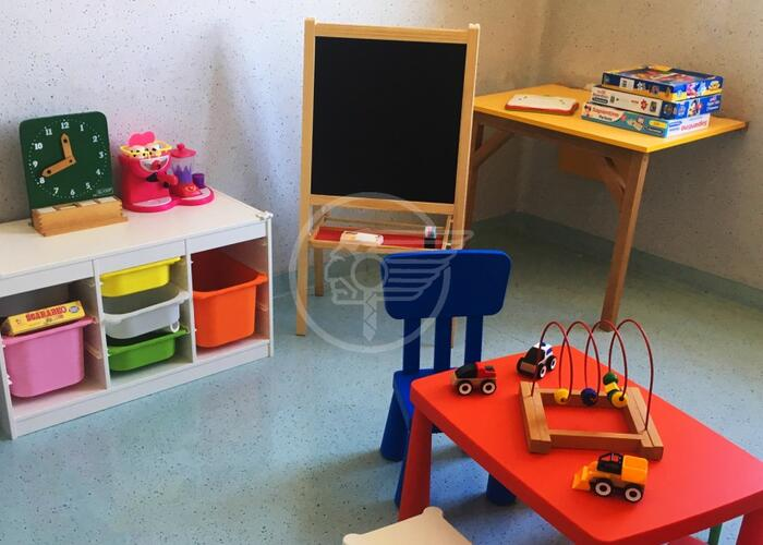 Spazio giochi per i piccoli pazienti al Sol et Salus