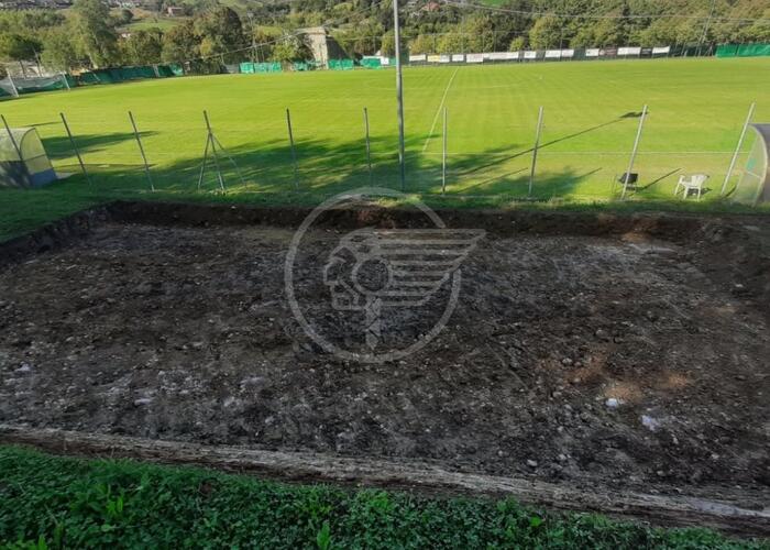 Presto la tribuna coperta al campo di Ponte Verucchio