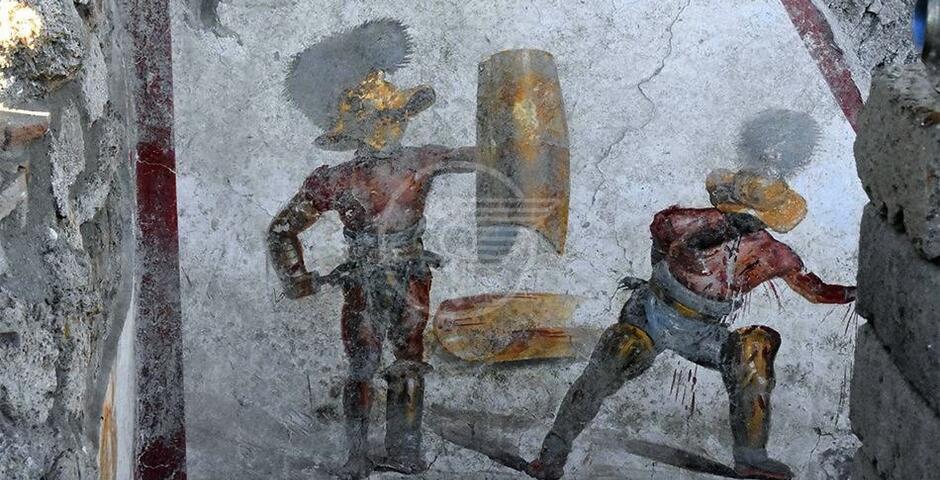 """I """"Gladiatori"""" scoperti a Pompei, un'opera metafisica e contemporanea"""
