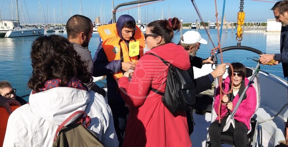 Con Rossato l'uscita in mare dedicata agli studenti disabili
