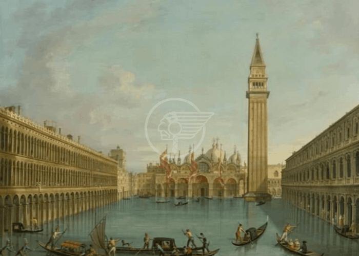 Venezia: anche ai primi del 1800 Piazza San Marco si allagava !