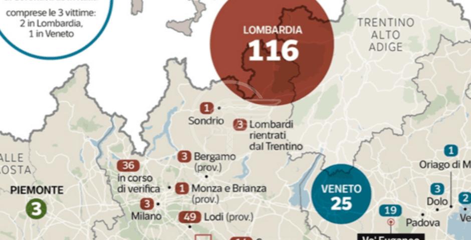 Coronavirus : contagi raddoppiati in 24 ore