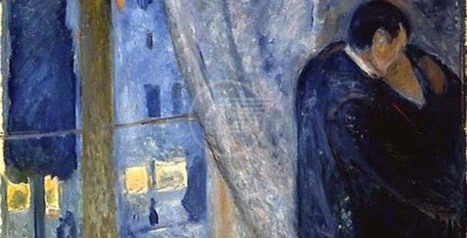 'Il bacio con la finestra', gli innamorati dentro il mistero di Munch