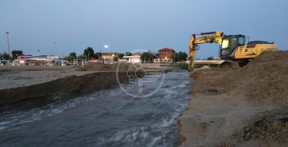 Ambiente, lavori alla foce del torrente Marano