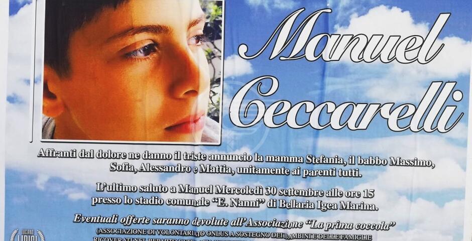 Domani l'addio a Manuel, l'abbraccio della città ai familiari