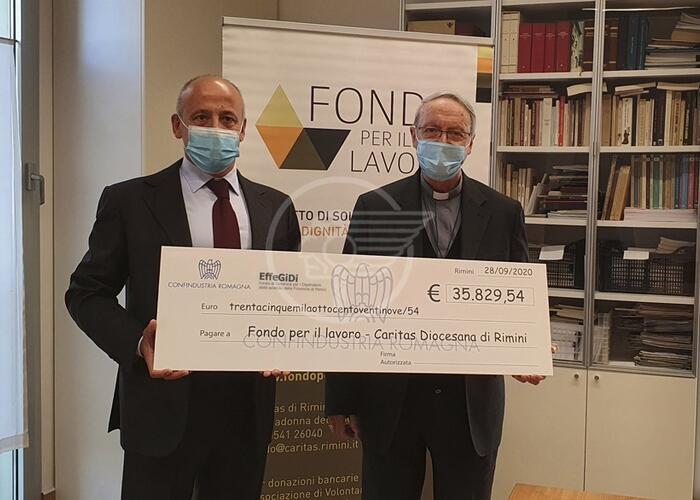 Al Fondo Lavoro della Diocesi quasi 36mila euro da industriali e EffeGiDi