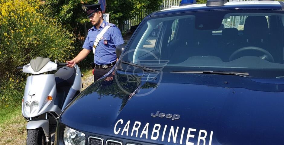 Pennabilli: i carabinieri scoprono il ladro di un ciclomotore