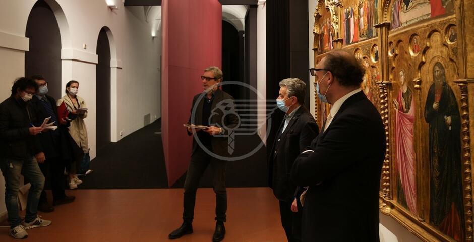 """E' tornata a casa la """"Madonna Diotallevi"""" di Raffaello: apre la mostra"""