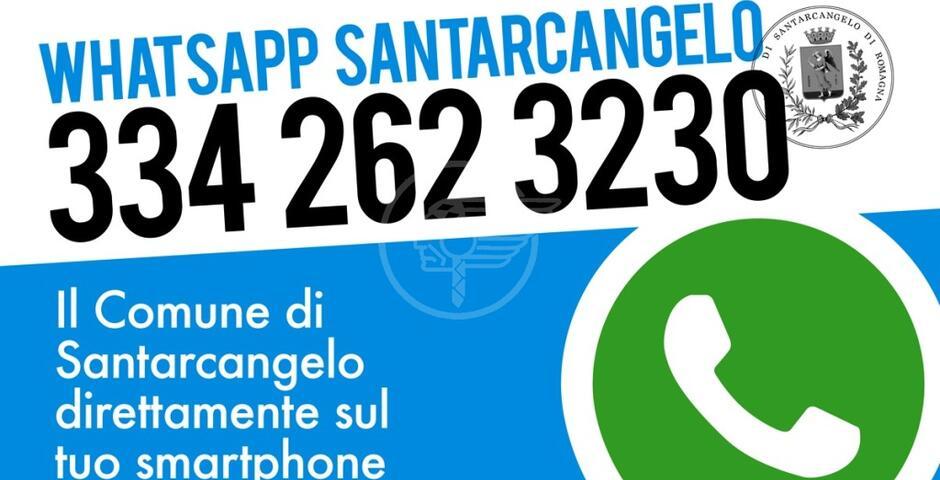 """Dal 26 ottobre attivo il servizio """"WhatsApp Santarcangelo"""""""