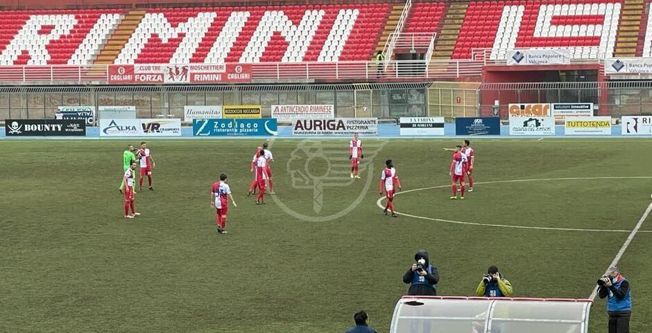 Il Rimini stende il Fiorenzuola (2-0) con reti all'inizio dei due tempi