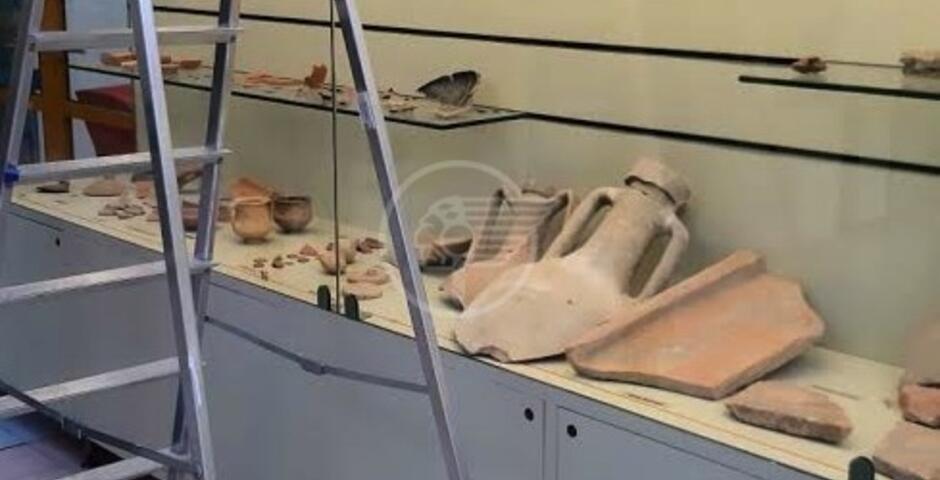 Un'anfora romana rinvenuta a Cattolica al Museo del Territorio