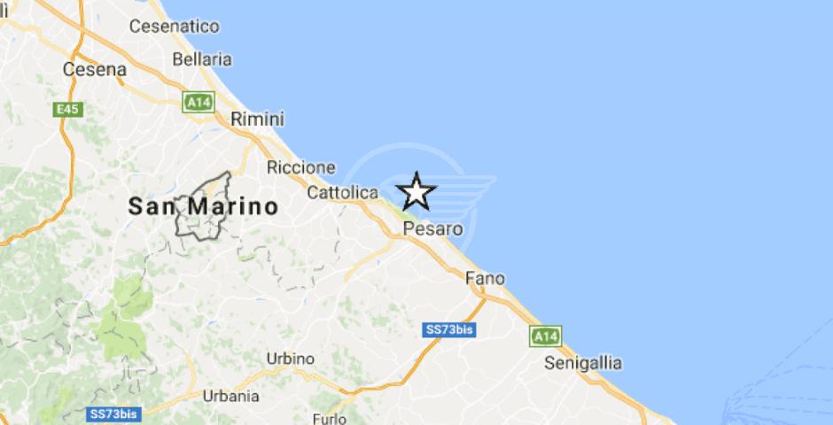 Terremoto al largo della costa pesarese, scossa 2.5 avvertita dalla popolazione