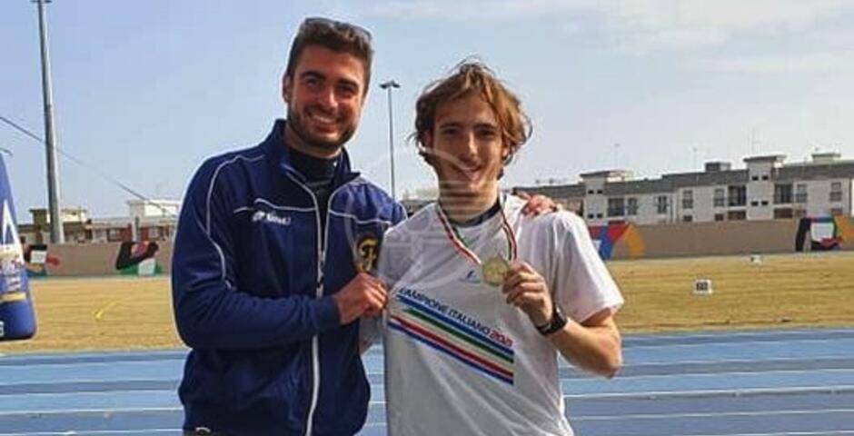Frattini campione italiano nel giavellotto, il Comune si congratula