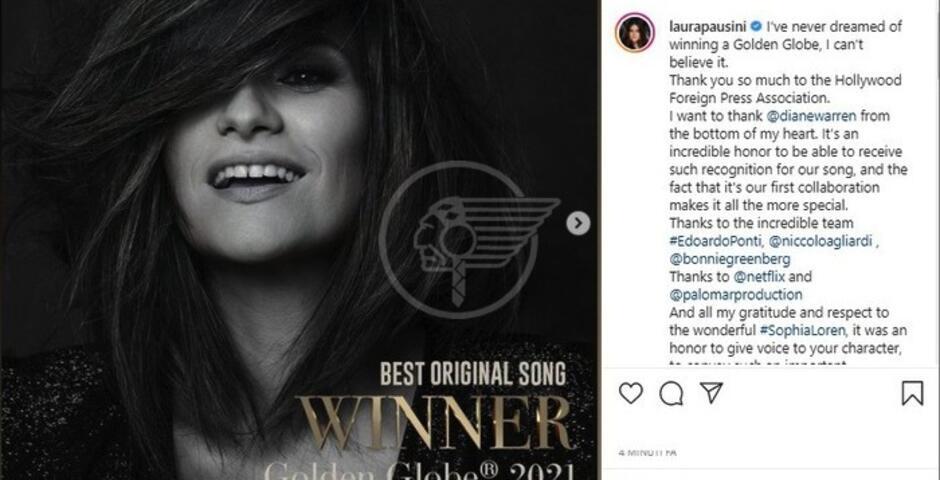 Con Laura Pausini anche la Romagna trionfa ai Golden Globe