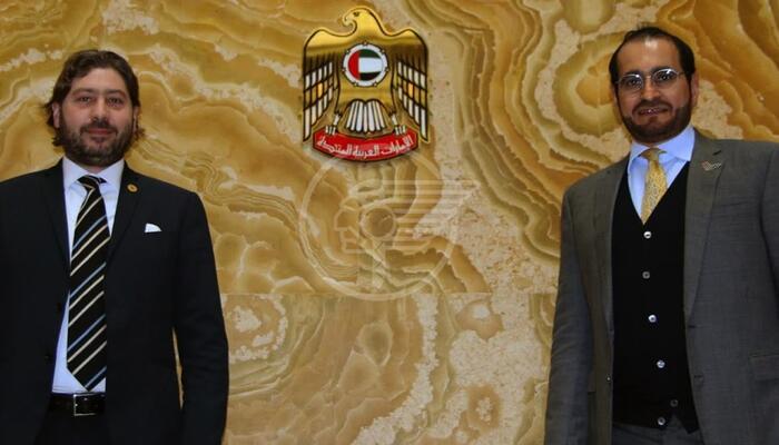 Pedini Amati in visita all'Ambasciatore degli Emirati Arabi Uniti di Roma