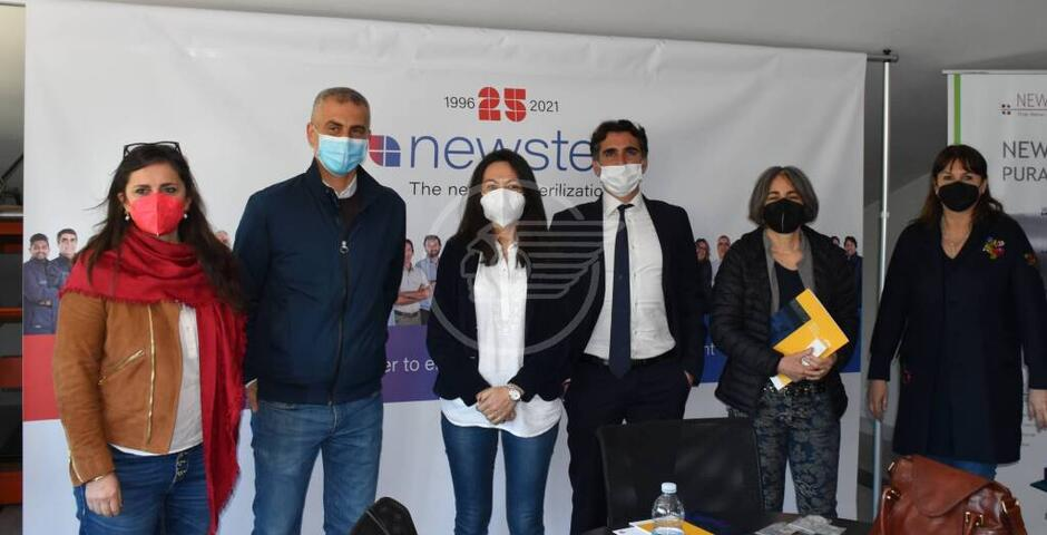 Sadegholvaad, l'assessore regionale Priolo e la Rossi in visita a Newster e delfinario