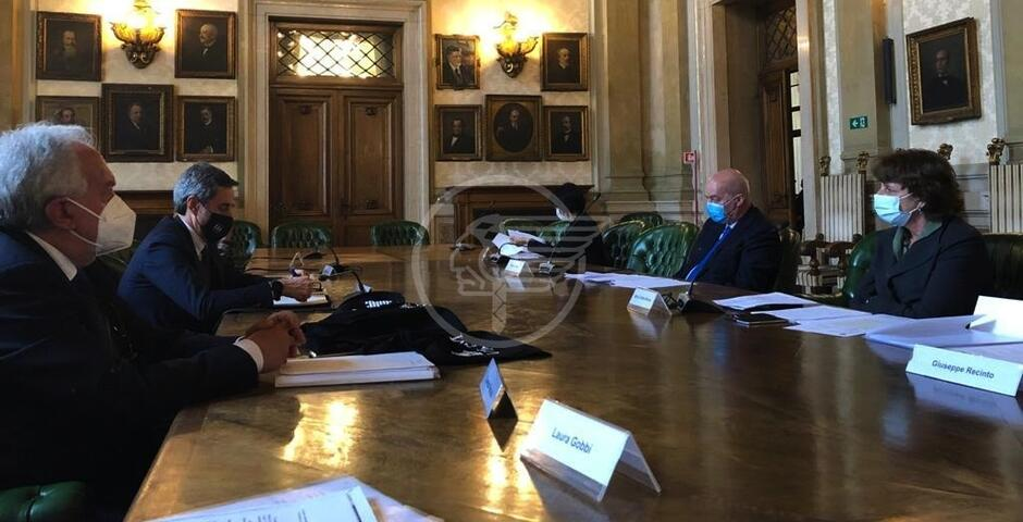 Belluzzi a Roma ha incontrato il ministro italiano Maria Cristina Messa