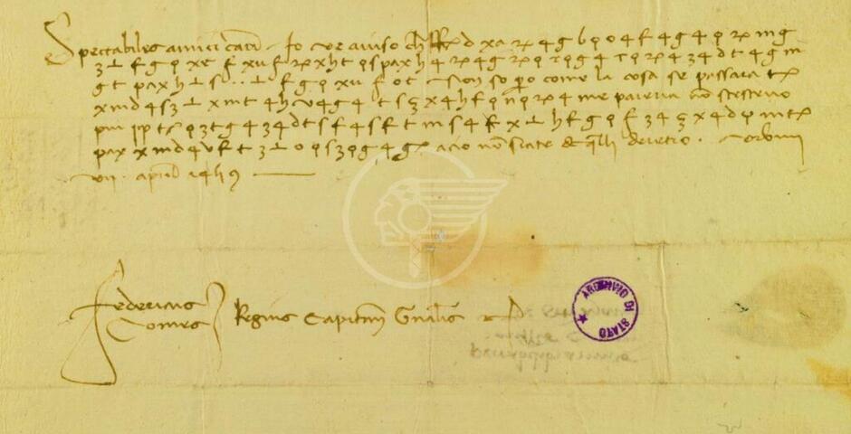 Svelata una lettera cifrata di Federico da Montefeltro a 600 anni dalla sua nascita