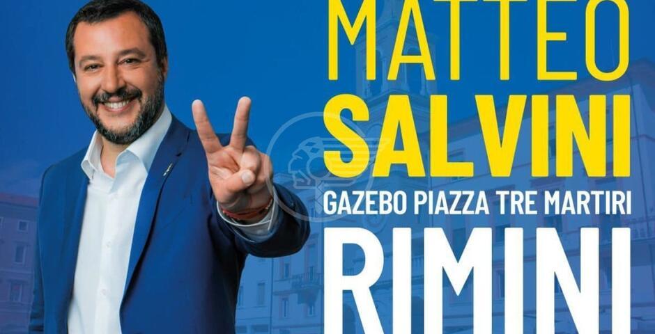 Sabato prossimo, 24 luglio, Matteo Salvini atteso in Piazza Tre Martiri