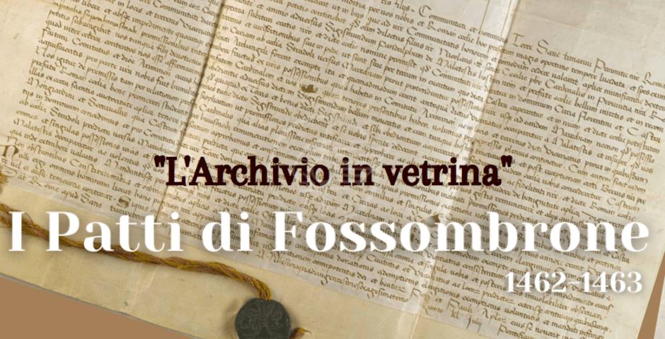 Mostre: i Patti di Fossombrone in vetrina dal 19 a Palazzo Pubblico