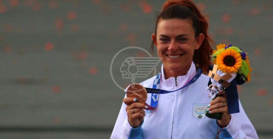 La storica medaglia della Perilli alle Olimpiadi orgoglio di tutto il Titano